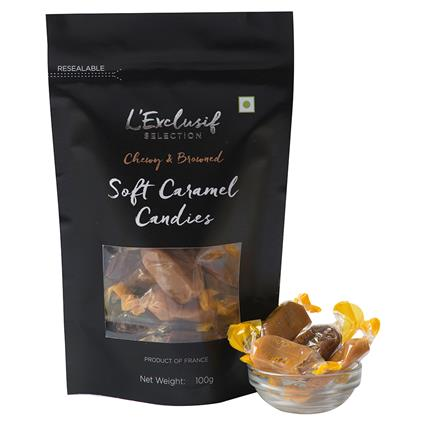LE ASSORTED SOFT CARAMEL CANSIES 100G