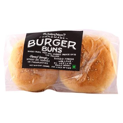 Whole Wheat Burger Buns 2Pc - The Baker's Dozen