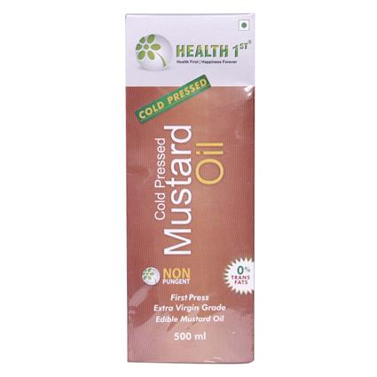 Cold Pressed Mustard Oil  -  0% Trans Fats - Health 1St