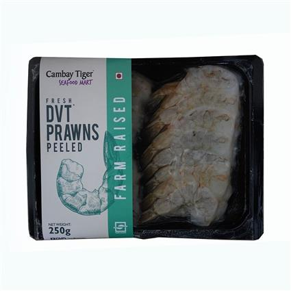 Cambay Tiger Prawns With Tail On 250G