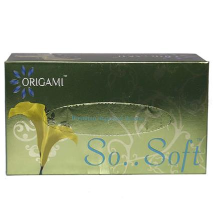 So Soft Face Tissues 100 Pulls 2 Ply - Origami