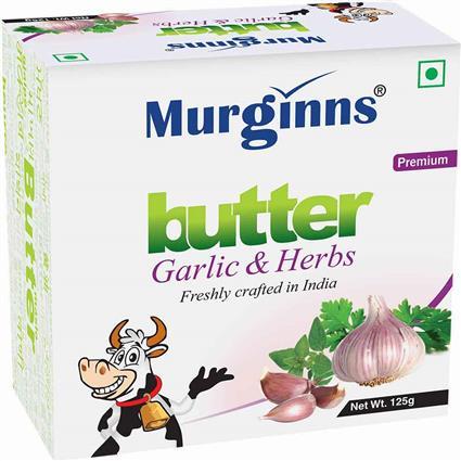 MURGINNS BUTTER GARLIC & HERBS 125G