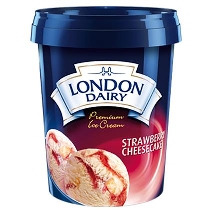 Strawberry Cheese Cake Ice Cream - London Dairy