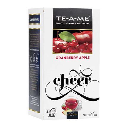 TE A ME CRANBERRY APPLE 25S TEA BAG BOX