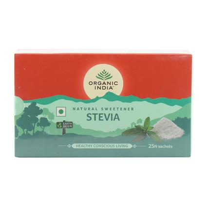 Honey Stevia Sache Box 25P - Organic India Pvt Ltd
