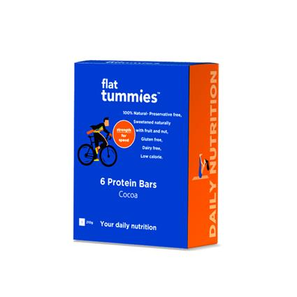 FLAT TUMMIES PROTEIN BAR WITH COCOA 210G