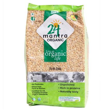 Unpolished Tur Dal - 24 Mantra Organic