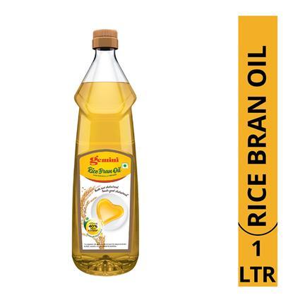 GEMINI REFINED RICE BRAN OIL 1LT BOT