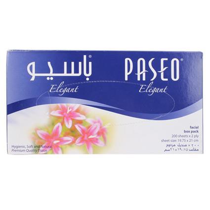 Facial Tissue Box Pack  -  2 Ply 200 Sheets - Paseo