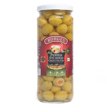 Olives Green Hot Pepper Stuff - Borges