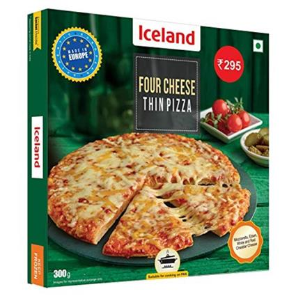ICELAND FOUR CHEESE THIN PIZZA 300 GM