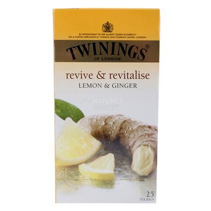 TWININGS LEMON & GINGER TEA BAG 25