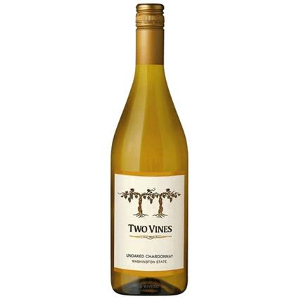 TWO VINES UNOAKED CHARDONNAY 750ML
