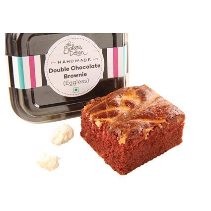 Double Chocolat Brownie Eggless - The Baker's Dozen