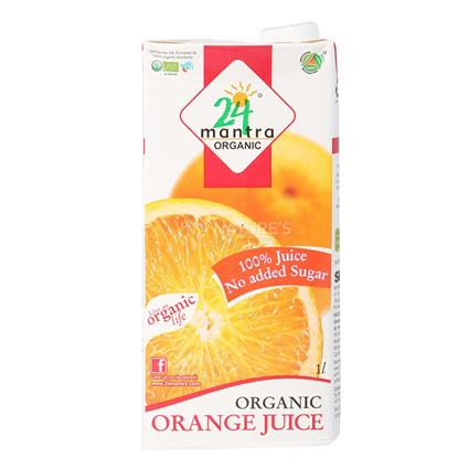 Orange 100% Fruit Juice - 24 Mantra Organic