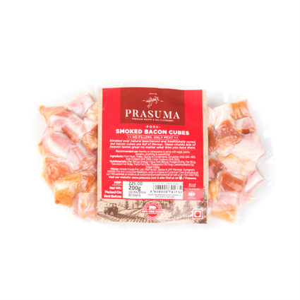 PRASUMA SMOKED BACON CUBES 200G