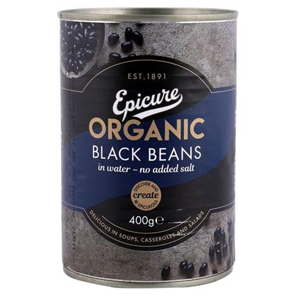 EPICURE BLACK BEANS IN WATER 400G