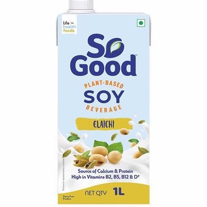 So Good Soy Milk Elaichi Flavour 1000Ml