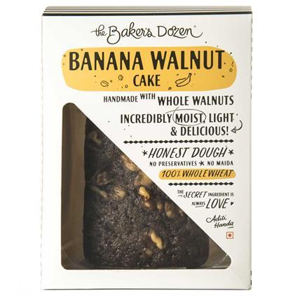 BANANA WALNUT CAKE - 150 G 100% WHOLEWHEAT