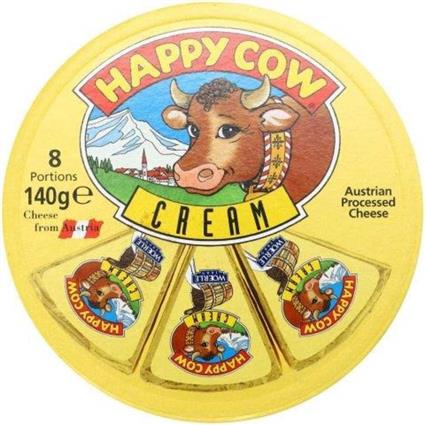 HAPPY COW PROCESSED CHEESE CREAM 140G