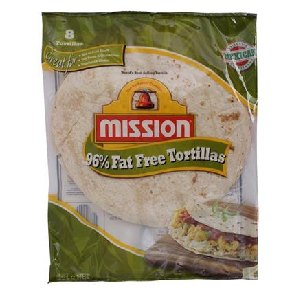 MISSION FAT FREE TORTILLA 8INCHES 384g
