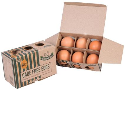 THE GOOD EGGS&Nbsp;CAGE FREE BROWN 6 PC