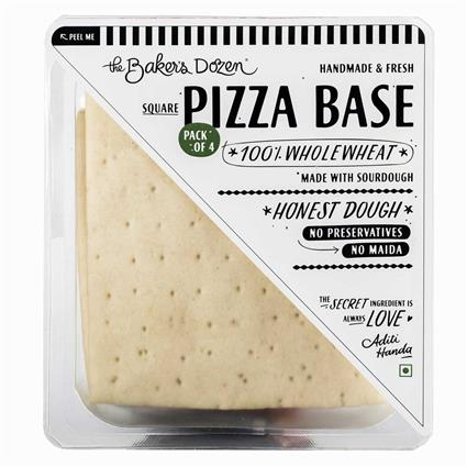 PIZZA BASE (PACK OF 4) (SOURDOUGH) 100% WHOLEWHEAT