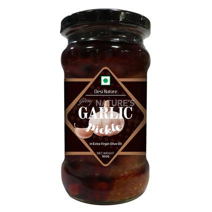 Garlic Pickle In Olive Oil - Desi Nature