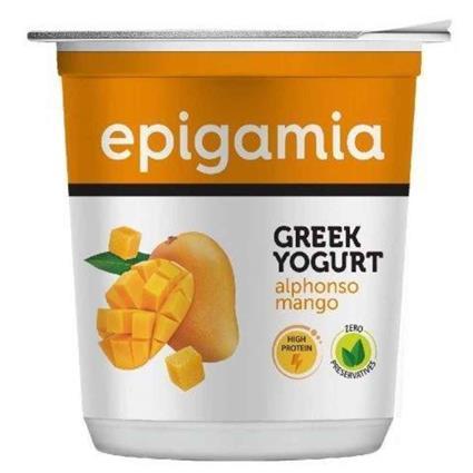 Epigamia Greek Yogurt - Alphonso Mango 400G
