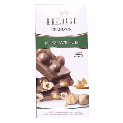 Grand Or Hazelnuts & Milk Chocolate Bar - Heidi