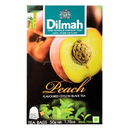Peach Flavoured Ceylon Black Tea - 25Tb - Dilmah