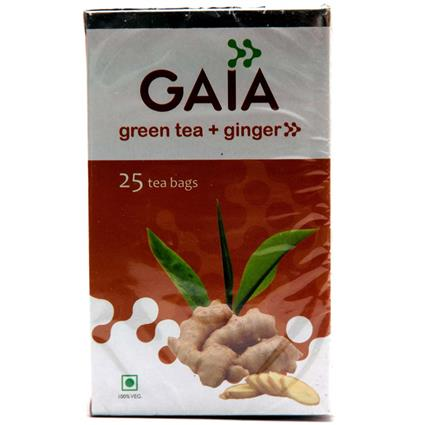 GAIA GREEN TEA-GINGER 25 TEA BAG