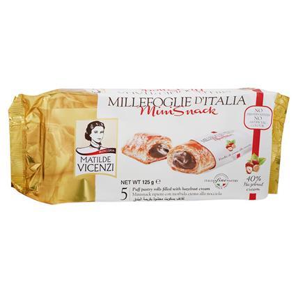 Minisnacks Puff Pastry Rolls Filled W/ Hazelnut Cream - Matlide Vicenzi