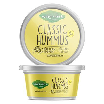 Classic Hummus No Garlic Dip - Wingreens