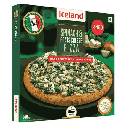 ICELAND SPINACH N GOATS CHESE PIZA 385GM