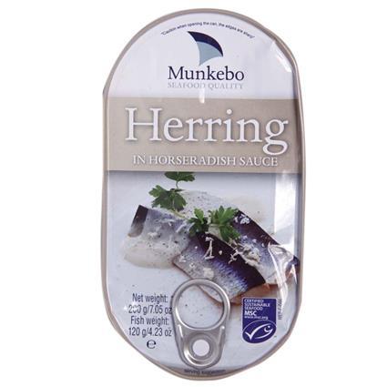 MUNKEBO HERRINGS IN HORSERADISHSAUCE200G