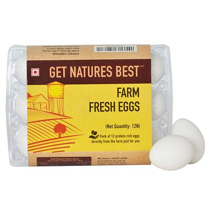 Farm Fresh Eggs Pack Of 12 - Get Natures Best
