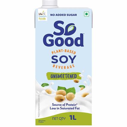 So Good Soy Milk Unsweetened 1000Ml