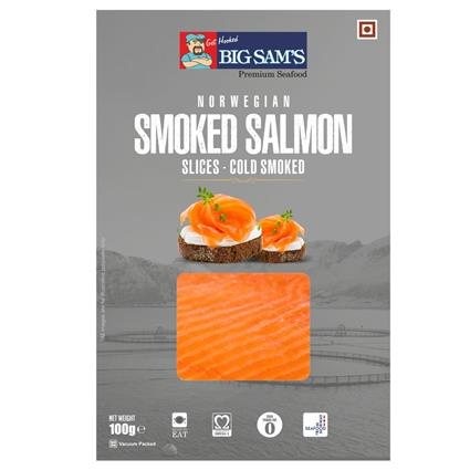 BIG SAMS FRESH NORWEG SMOKED SALMON 100G
