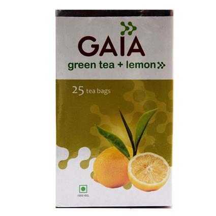 GAIA GREEN TEA-LEMON 25 TEA BAG